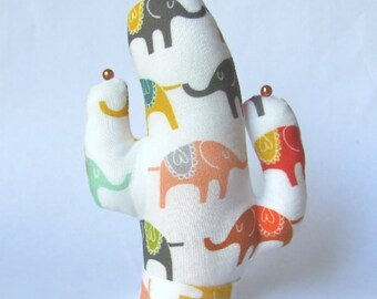 Elephant Fabric Saguaro Glasses Jewelry SHORT Style CACTUS-Stand