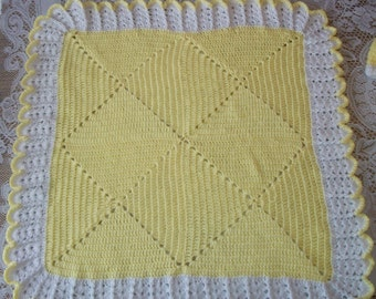 Crochet Baby Boy Blanket For Carrier or Crib Afghan Perfect For Baby Shower or Newborn Take Me Home Gift