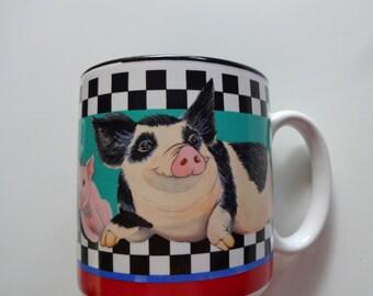 Vintage Sue E. Pigg Coffee Mug 1994