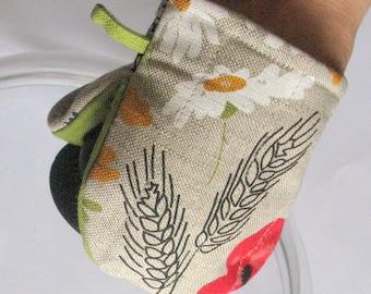 Flowers Oven Mitt Quilted Oven Glove Kitchen Decor Insulated Pot Holder Housewarming Gift