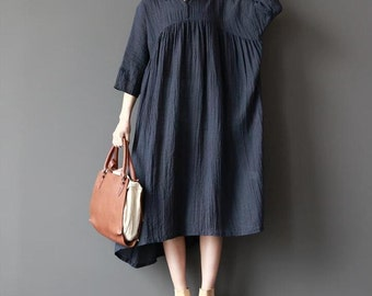 Women loose fitting long dress large size maxi dress long sundress