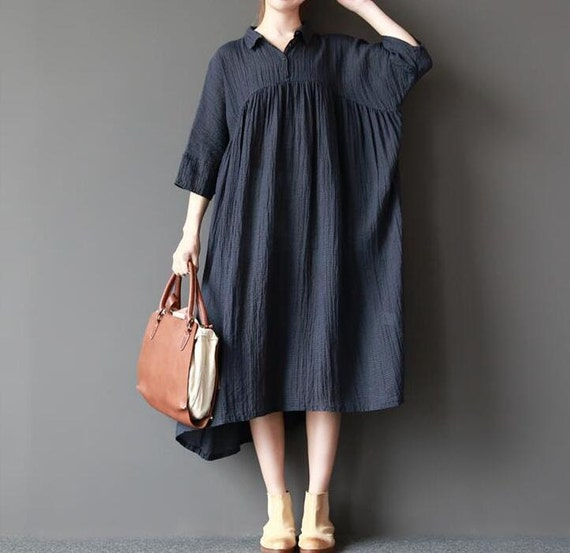 Women loose fitting long dress large size maxi dress long sundress