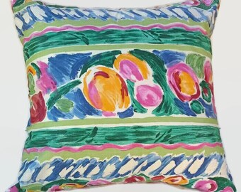 Multi-Color Eco Friendly  Pillow Cover 24 Inch Square Upcycled 24 X 24