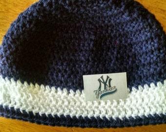 Crocheted New York Yankees Hat