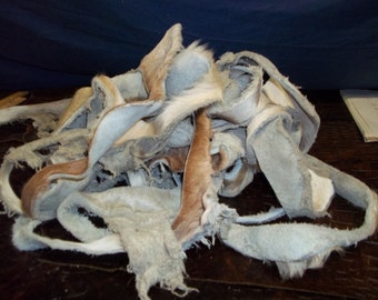 Real animal fur cow scrap deer hair leather craft tanned F - 18