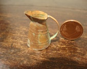 Miniatures  dollhouse miniature copper jug oxidated
