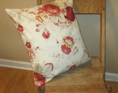 Waverly Norfolk  Authentic Rose  Pillow Cover/ Couch pillow cover/ Throw rose pillow cover/ Home decor pillow covers