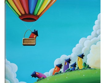 """iCanvas """"Up, Up, and Away"""" Gallery Wrapped Canvas Art Print by Cindy Thornton"""