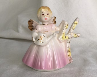 Josef Originals figurine 4 birthday angel figurine 651637  fairy 4th fourth birthday original label Applause Inc