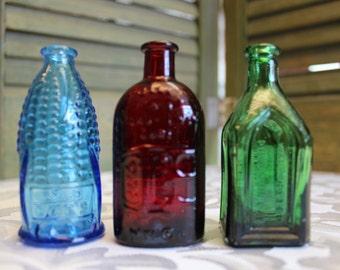 Vintage Miniature Replica Wheaton Glass Bottles