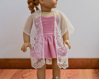 Lace Kimono for American Girl dolls
