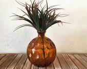 Mid Century Orange Vase
