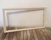 Vintage White Wood Frame