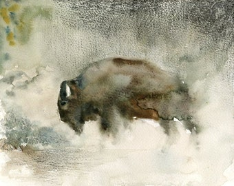 Bison  by DIMDImini Special Edition  Print 10X8inch