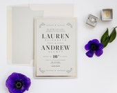 Wedding Whimsy Silver Foil Wedding Invitation