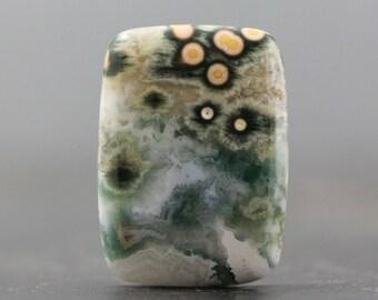 Cabochon Ocean Jasper Orbicular Jasper Natural Colorful Gemstone - Madagascar, Atlantis Stone (CA5519)