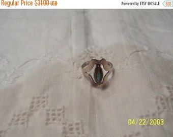 20 OFF EVERYTHING Vintage Abalone Ring. Sterling Silver.