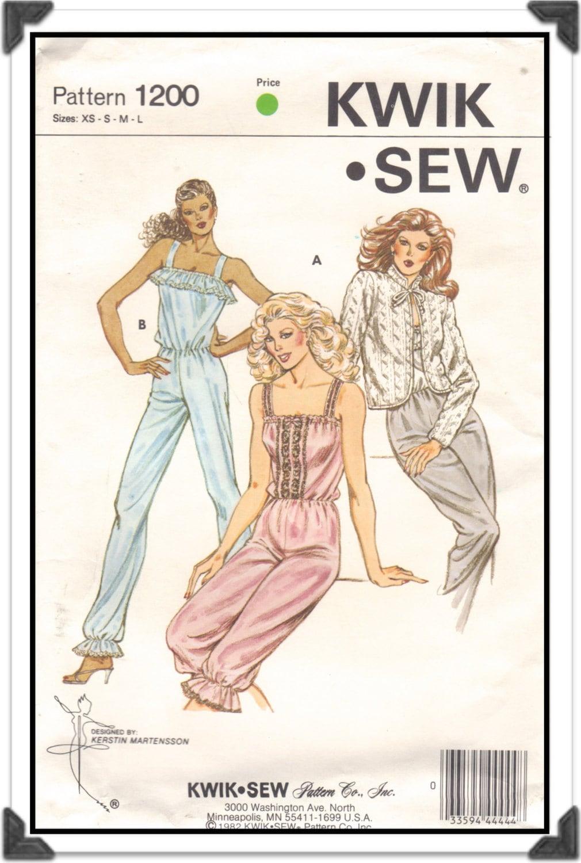 Sale kwik sew pattern 1200 misses pantaloon style jumpsuit sold by iknitisew jeuxipadfo Choice Image