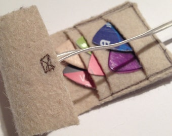 Guitar Pick Pocket-complete with re-cycled picks