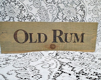 Old Rum Wooden Box