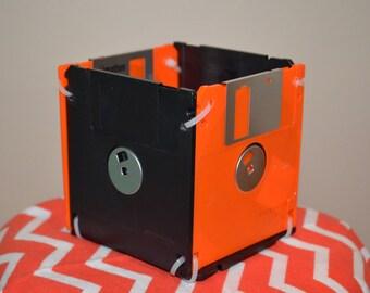 Floppy disc pen & pencil holder