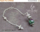 SALE Love Ruby Zoisite Dowsing Pendulum (DP0177)