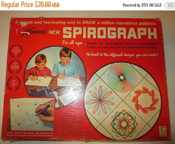On sale vintage kenner spirograph 1967 by suburbantreasure on etsy - Spirograph clock ...