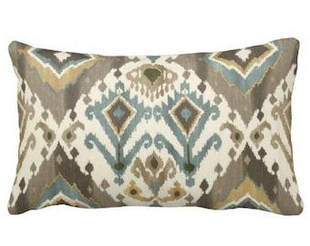 ikat pillows, lumbars, decorative pillows for chair, ikat pillow covers, 12x18 pillows, 10x16 pillows, 14x14 pillows, earth tone pillows