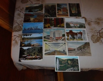 Postcards with stamps 1929-1972 Franklin profile 1 cent stamps and more