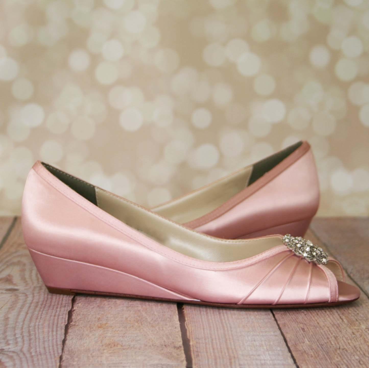 Pink Heels For Wedding: Pink Wedding Shoes Blush Pink Shoes Vintage Wedding Shoes