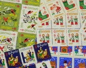 Vintage 1960's Christmas Seals Stamps More than 80 Stamps
