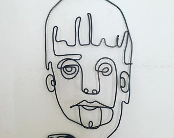 Abstract Portrait 5 Wire Wall Art