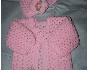 "PrettY Crochet set for 16"" Reborn Baby Doll"