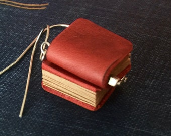 25%OFF Genuine LEATHER miniature BOOK earrings (Dark red) with gift envelope  gift for librarian teacher book lovers