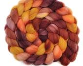 Handpainted roving - Superwash Merino Wool / Nylon  85/15% spinning fiber - 4.2 ounces - Long Weekend 2