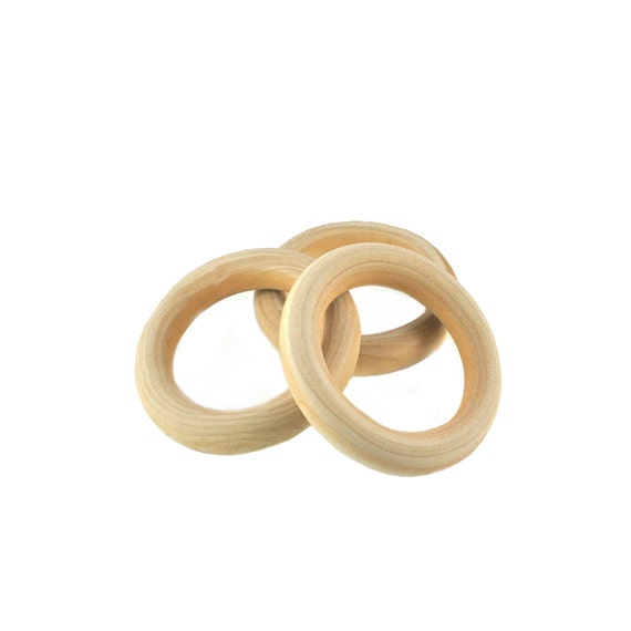 3 wooden unfinshed wooden rings 275 for craft projects for Wooden rings for crafts