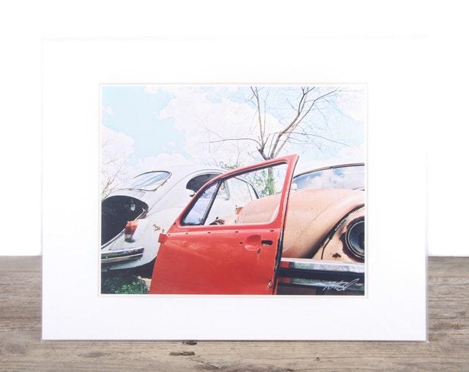 Original Fine Art Photography / Orange Bettle Bug Picture / Volkswagen Photography / VW Gift / Signed Photography / Film Photography Prints