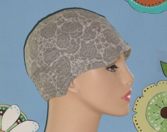 Womens Soft Chemo Cap Hat for Hair Loss. Made in the USA. Gray ( For Size Guide, see 'Item Details' below photos) SMALL/MEDIUM