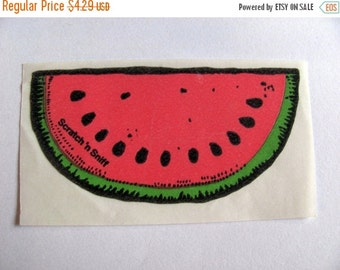 ON SALE Vintage 3M Scratch and Sniff Watermelon Sticker - 80's Collectable