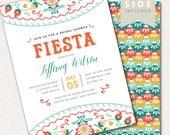 Fiesta Bridal Shower Invitation, Mexican Shower Invite, Bridal Brunch Invitation Printable