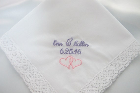 Wedding Handkerchief Personalized for the Bride