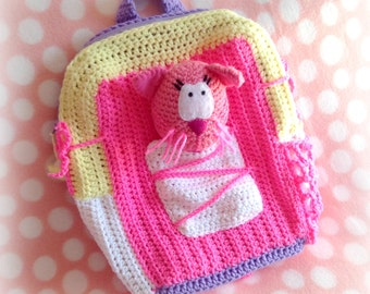 Crochet Toontown Kitty Kit Backpack