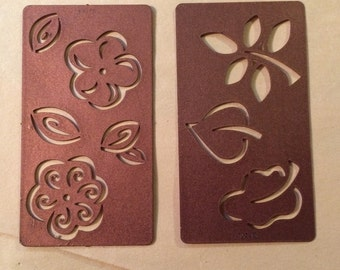 Spellbinder Shapeabilities rare sets FLOWERS and LEAVES 2 die plates 8 designs  free shipping