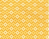 Grellow Square Dots Matrix from Robert Kaufman's Rhoda Ruth Collection by Elizabeth Hartman