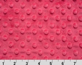 Shocking Pink Dimple Minky From Shannon Fabrics