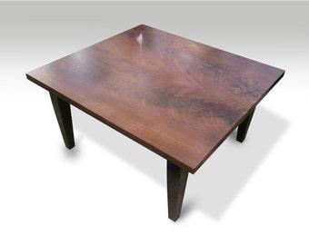 Farm walnut square coffee table