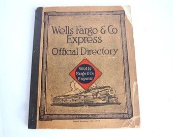 Wells Fargo Collectibles, 1914 Official Employee Directory for Wells Fargo