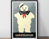 Ghostbusters Movie Print - 12 x 18 inches - Stay Puft