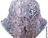 Snake Print Unisex Bucket Hat | Snake-print Hat | Snake Skin Hat | Animal-print Hat | Black and White Snake Print by Hamlet Pericles