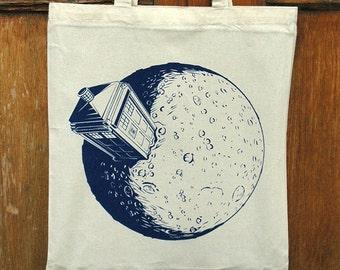 Dr.Who Tardis - Cotton Canvas Reusable Market Tote Bag